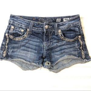 Miss Me embellished denim cut off shorts 26